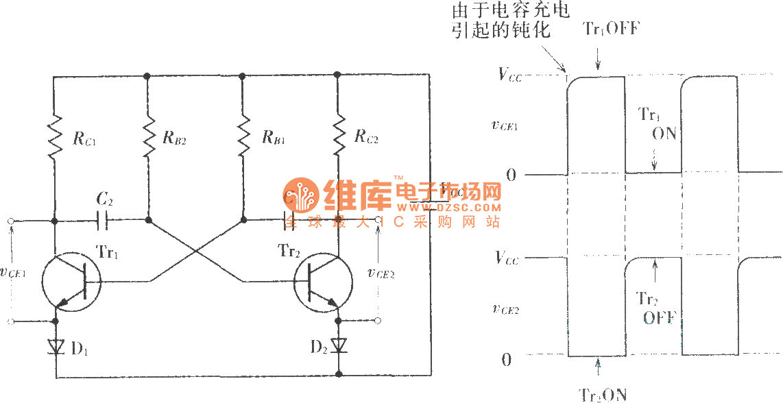 astable oscillator circuit page 4 oscillator circuits next grastable multivibrator circuit diagram