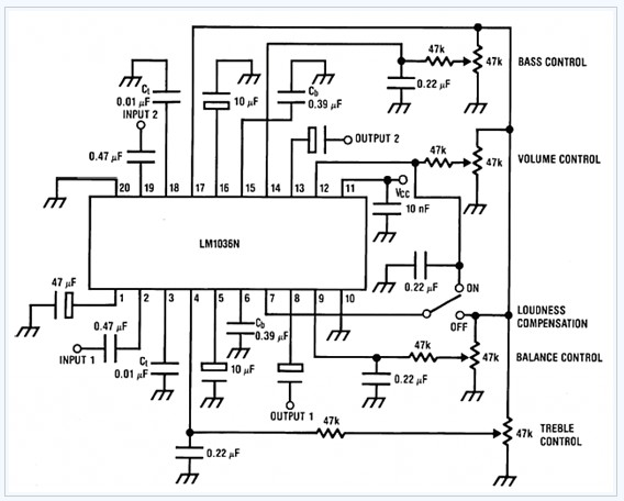 audio tone balance circuit page 4   audio circuits    next gr
