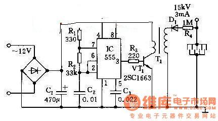 High Voltage Generator - schematic