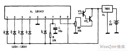 Using LB1413 as electronic thermometer circuit diagram