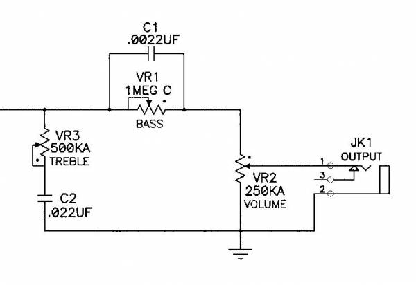 Two-Band Tone Control - schematic