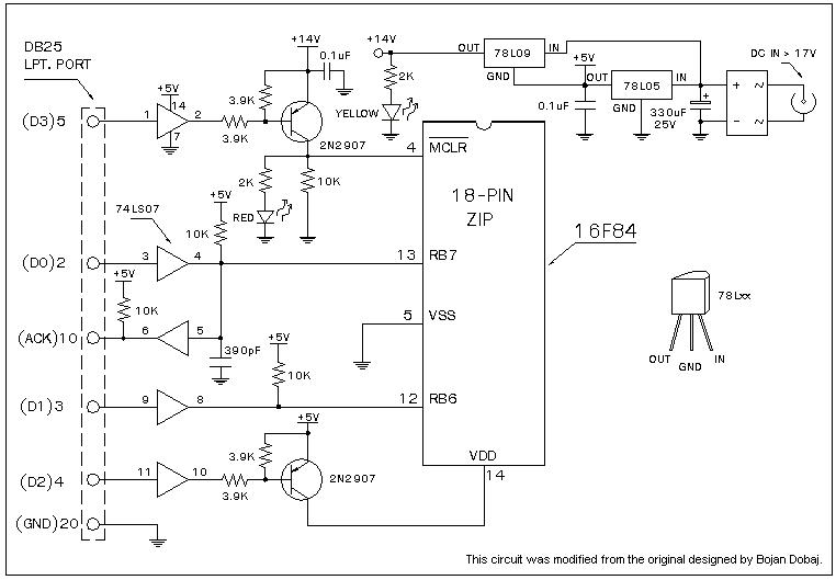 F84 Programmer circuit - schematic