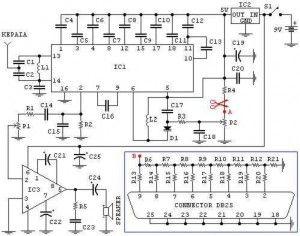 PC FM Radio circuit - schematic