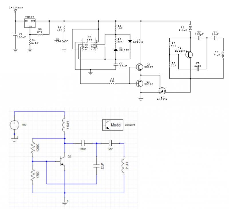 Pulsed LC Oscillator - schematic