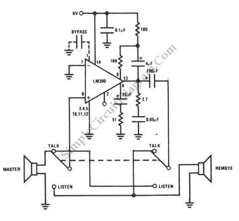 Simple Door Intercom - schematic