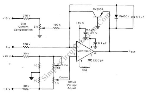 Low-Cost Logarithmic Converter Using Opamp and Transistor - schematic