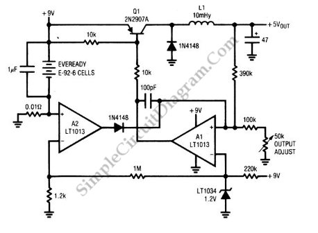 Low-Power Switching Regulator - schematic