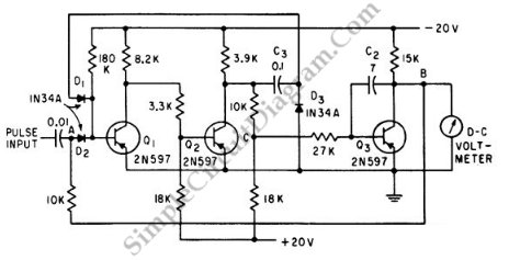 Peak (Pulse) Voltmeter - schematic