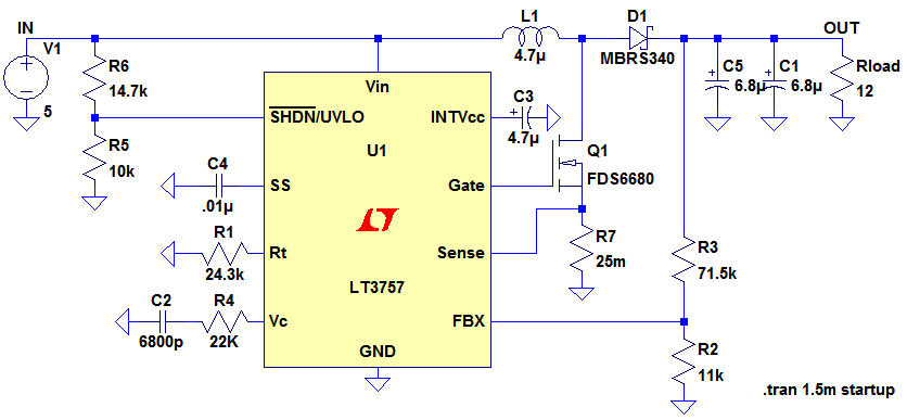 Boost Converter Design - schematic