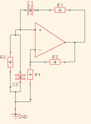 Wien Bridge Oscillator Design - schematic