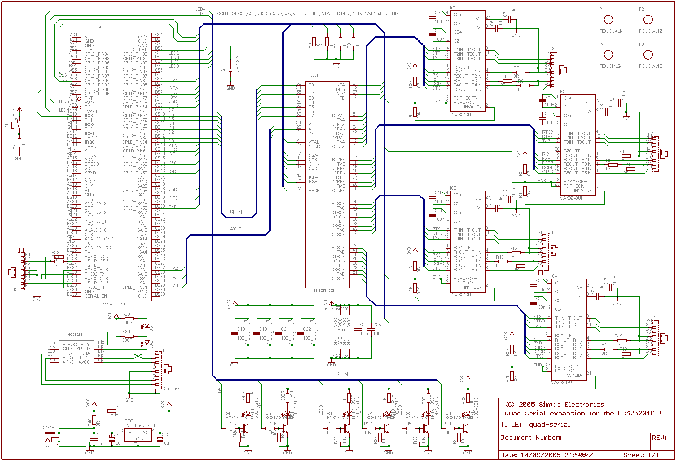 TV video output for the EB675001DIP - schematic