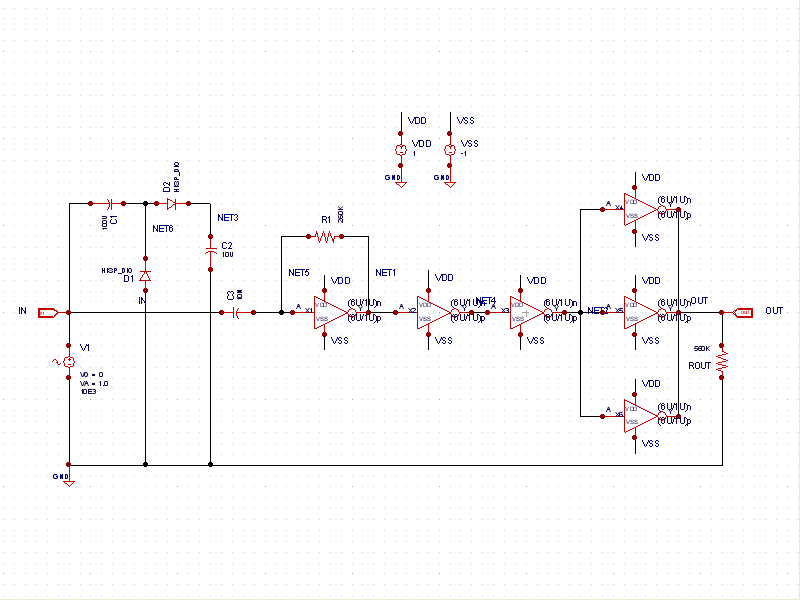 Sine to Square Wave Converter - schematic