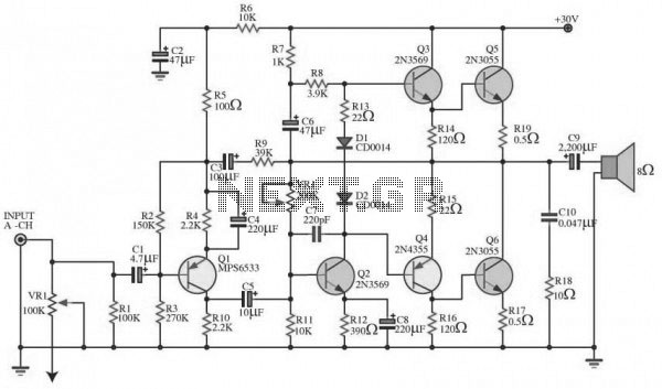 audio amplifier circuit page 16   audio circuits    next gr