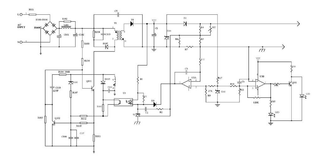battery charger circuits - schematic