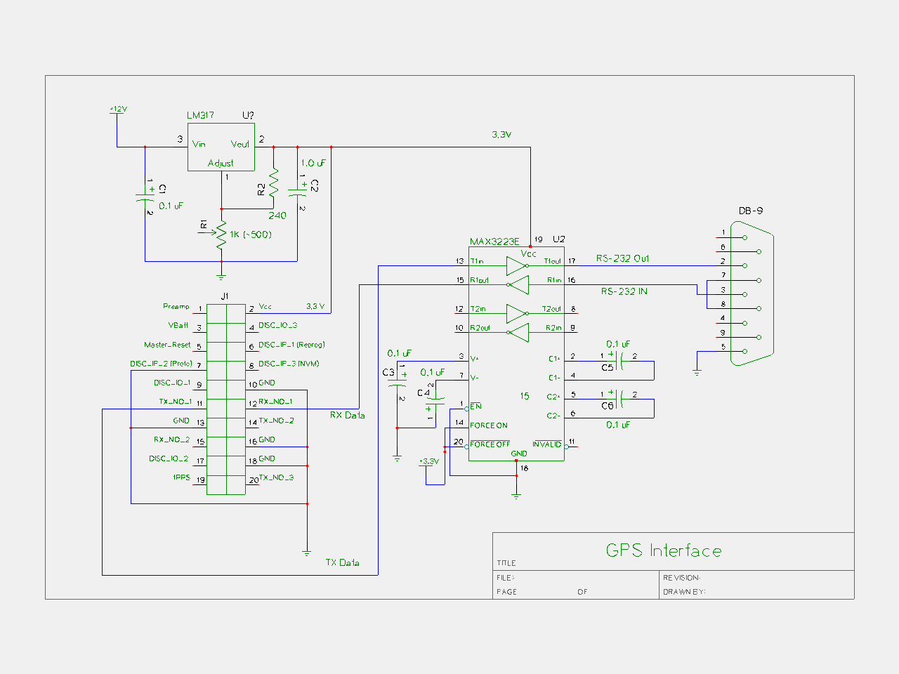 GPS Receiver Project Notes - schematic