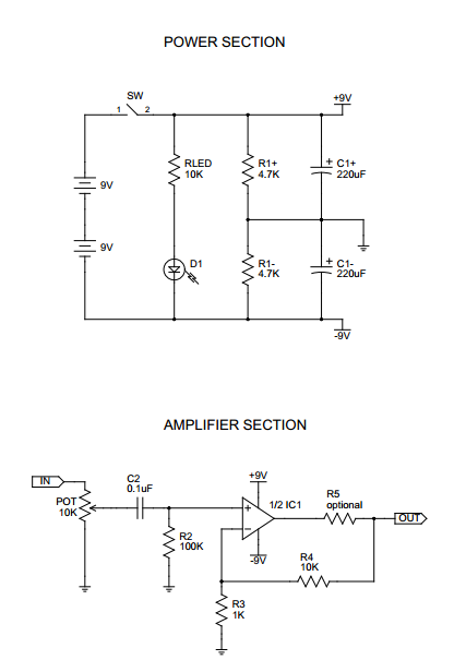 CMoy Pocket Amplifier - schematic