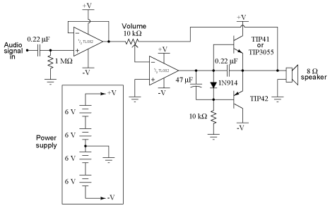 Fundamentals of Electrical Engineering and Class B audio amplifier