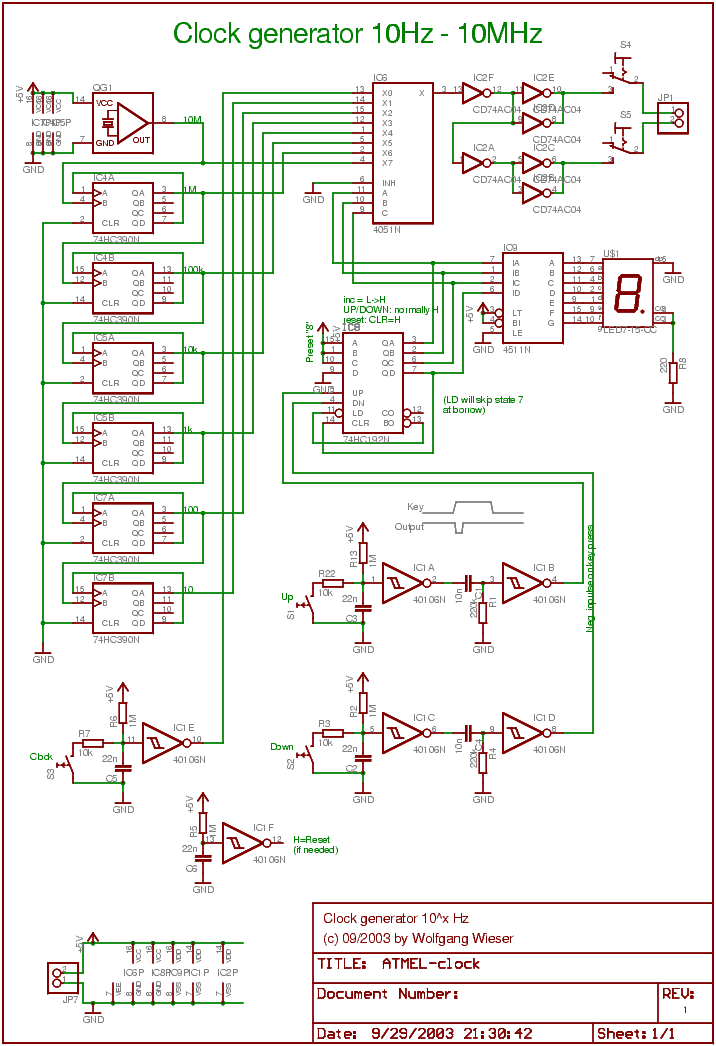 Precision Clock Generator - schematic