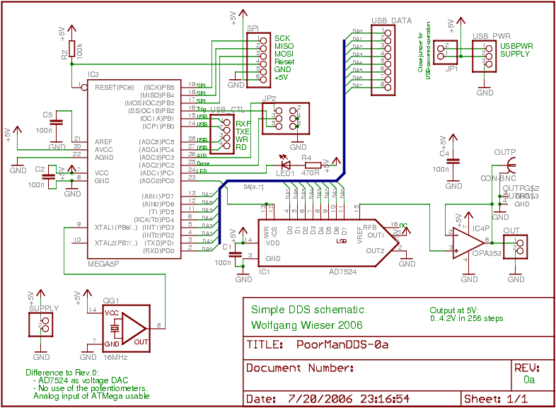 Poor Mans DDS Board - schematic