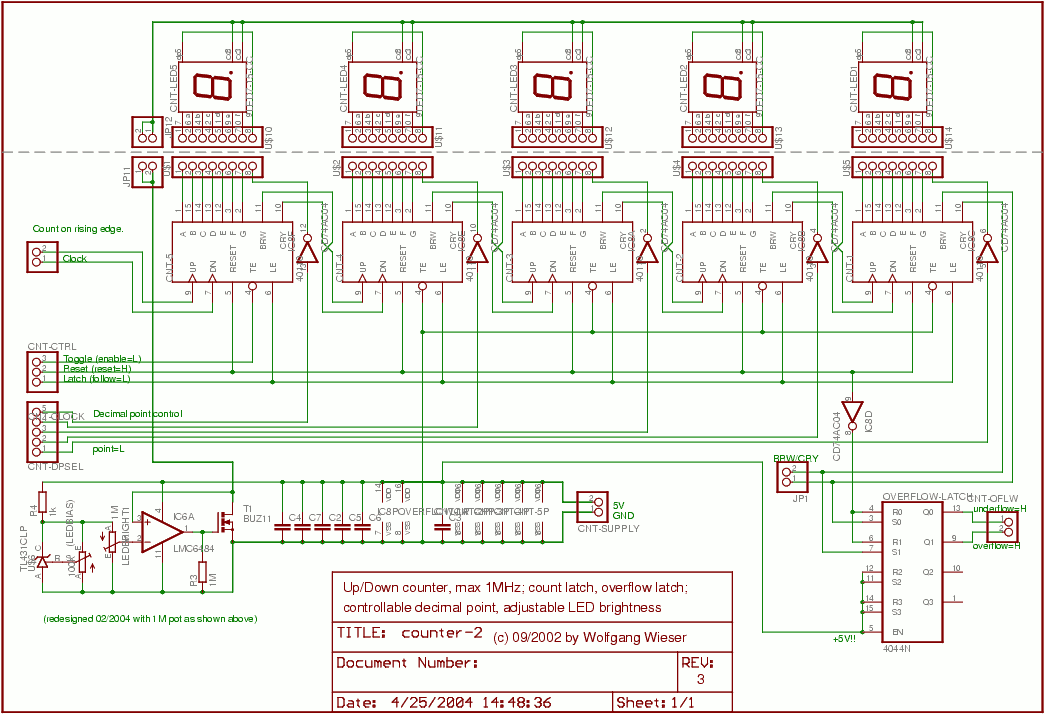Frequency counter Counter schematic - schematic