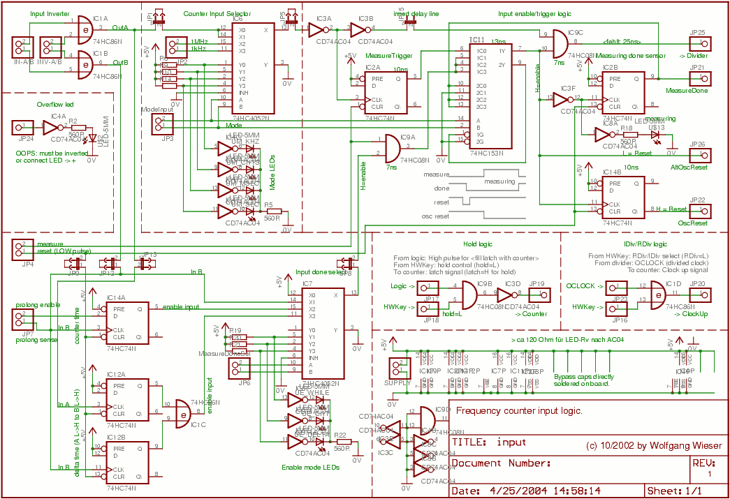 Frequency Counter Design : Frequency meter circuit page counter circuits