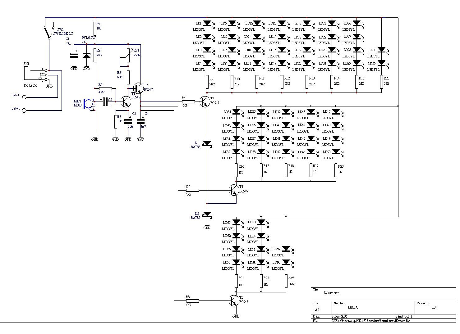 Microphone Circuit Page 6 Audio Circuits Current Limiting Amplifier Amplifiercircuitsaudio Sound Star Kit With 60 Leds And Vu Meter