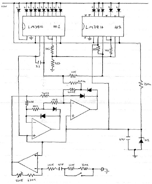 Electronic VU Meter - schematic