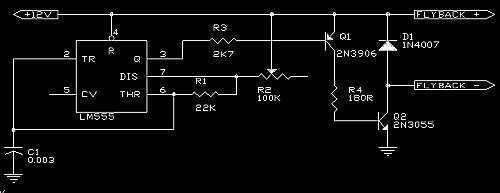 flyback with a pulsed DC signal - schematic