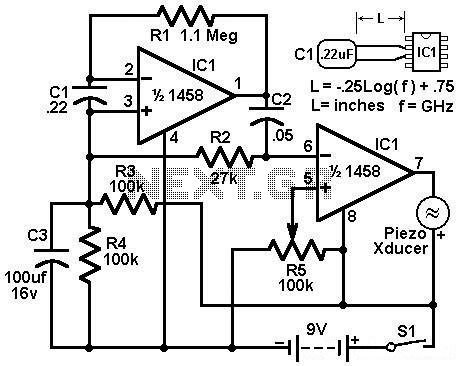 Build A Simple Twin Tee Phase Shift Audio Oscillator And Audio  lifier L44715 likewise Buzzer Wiring Diagram in addition Simple Photocell Schematic moreover Touch L  Circuit Diagram further Wiring Diagram For Motorcycle Hazard Lights. on simple motion detector circuit