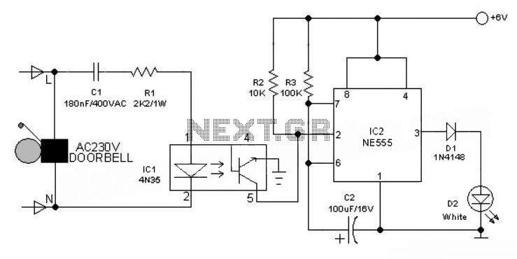 Electronic Doorbell Light Schematic - schematic