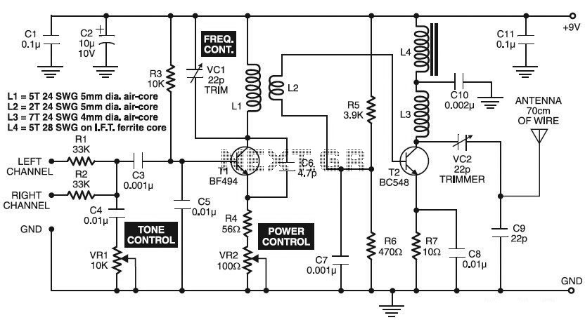 Good Quality 500M FM Transmitter - schematic