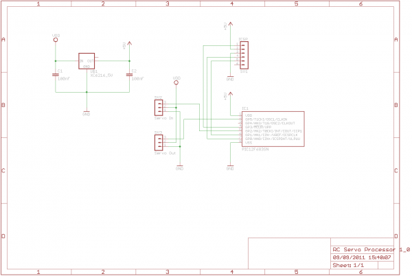 RC Servo Processor - schematic