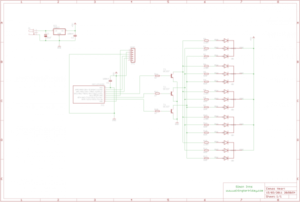 RGB LED Love Heart - schematic