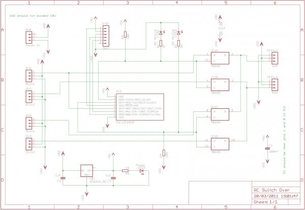 RC Servo Switcher - schematic