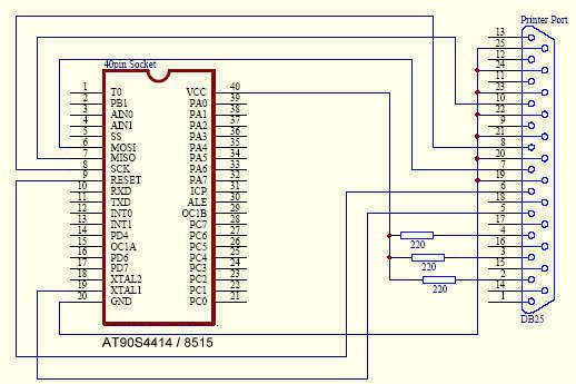AVR programmer - schematic