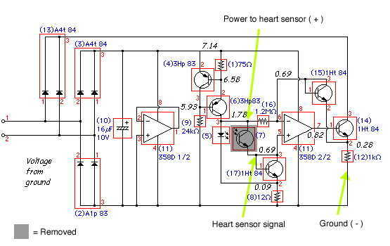 Heart Rate Sensor - schematic