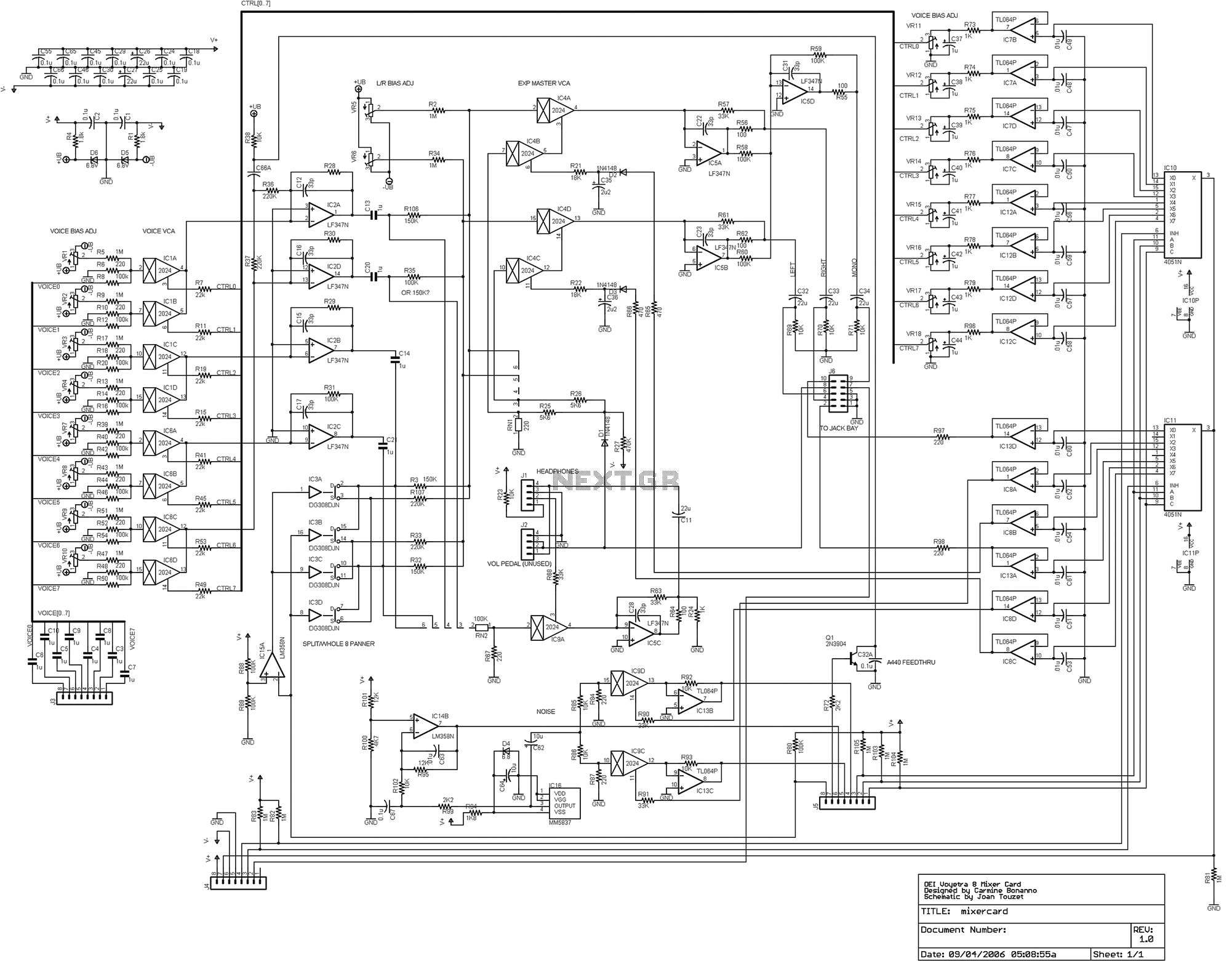 Audio Mixer Circuit Page 2 Audio Circuits Next Gr