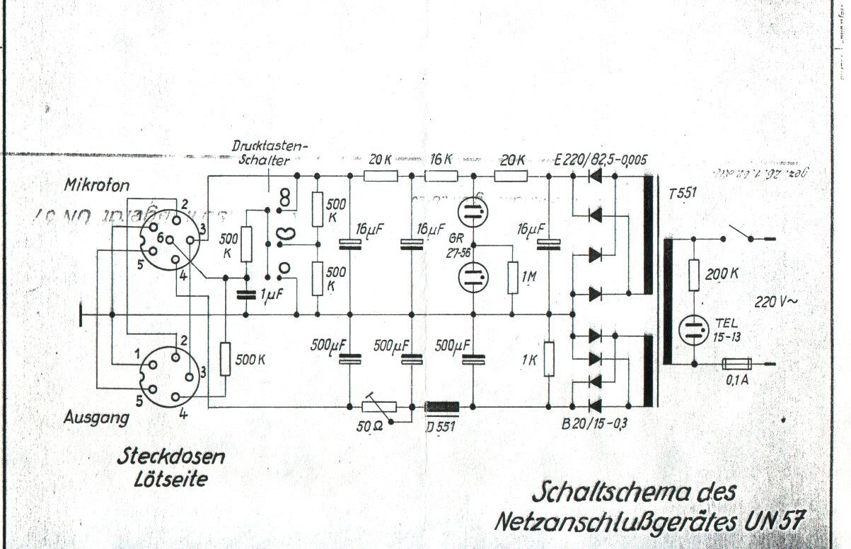 Tube mic Connecting the capsule 2 - schematic