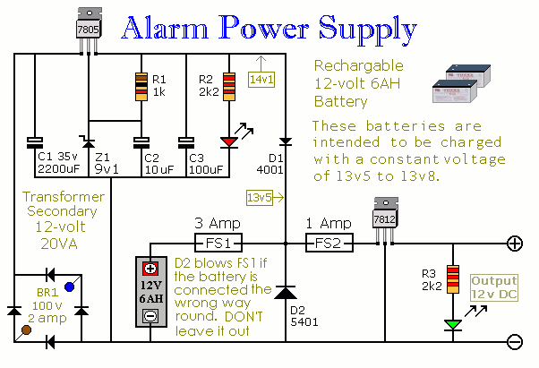 Build This Simple Power Supply For Your Intruder Alarm Project