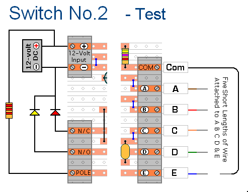 Keypad Operated Switch No.2 - testing your circuit - schematic