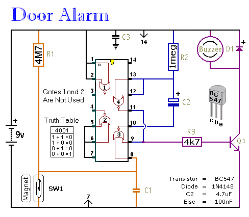Alarm Circuit Page 8 Security Circuits Next Gr