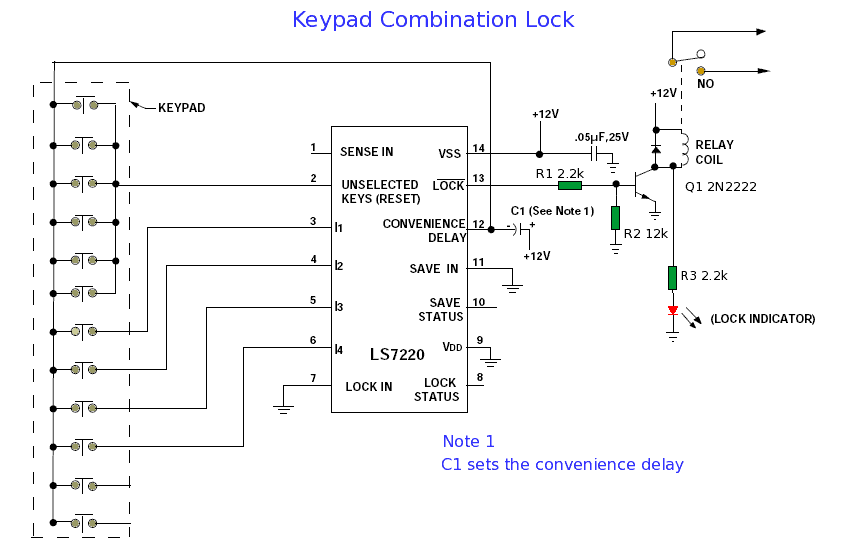 keypad circuit other circuits gr electronic keypad combination lock