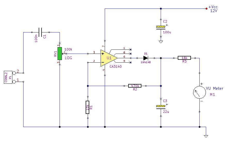 Peak Reading Audio Level Meter Under Repository-circuits