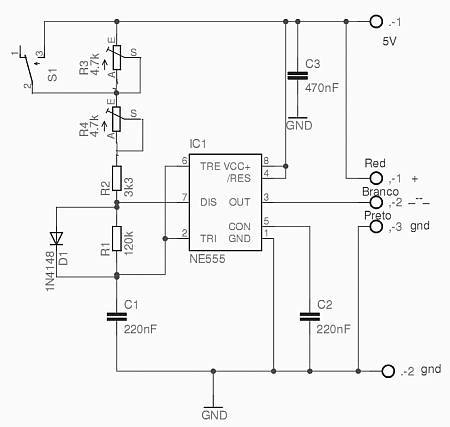 circuit to test servo motor (pole rotor) of parabolic antenna - schematic