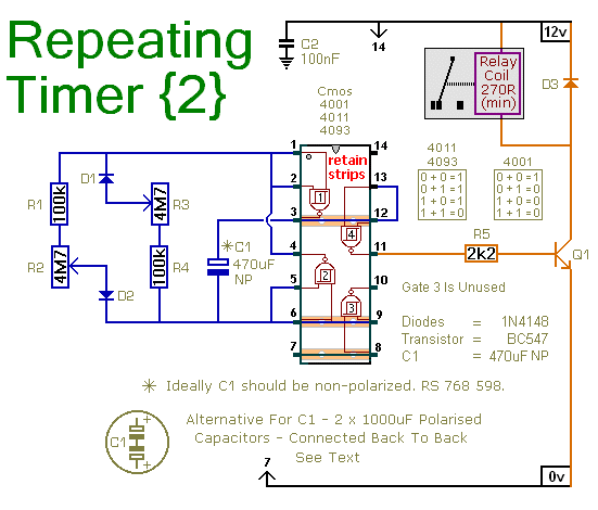 A Repeating Timer Circuit - schematic