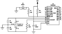 Clock Oscillator BasicCircuit from Sirius microSystem - schematic
