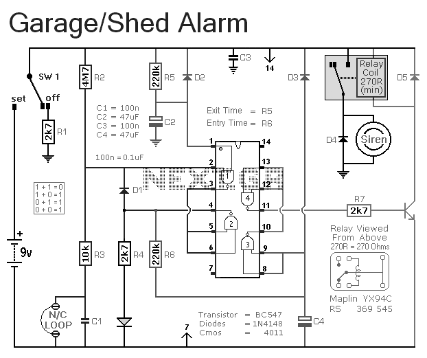alarm circuit page 15   security circuits    next gr