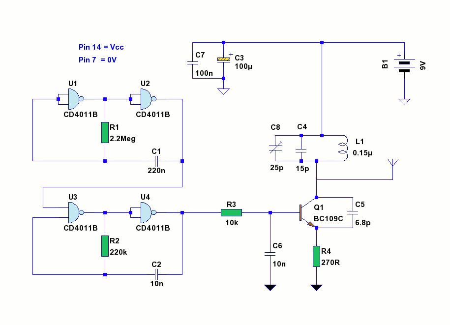 Tracking Transmitter - schematic