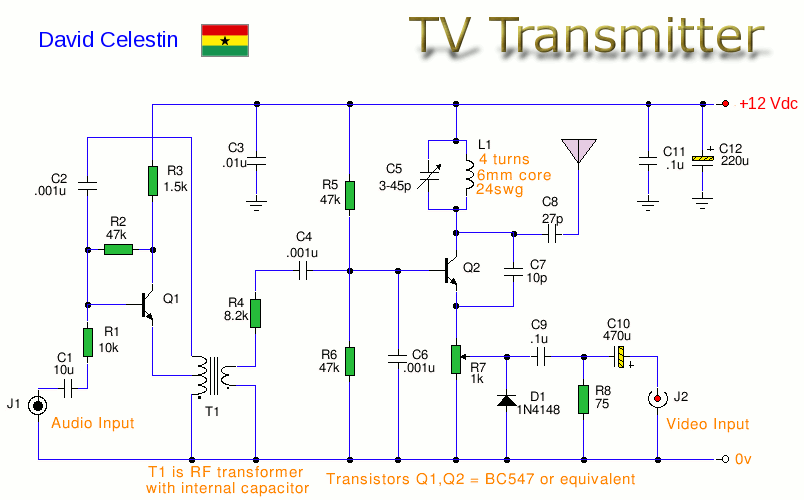TV Transmitter - schematic