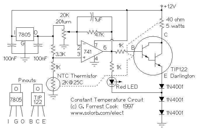 Low power temperature controller - schematic